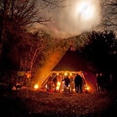 Tipi tent in the Ardennes for Teambuilding4Teams